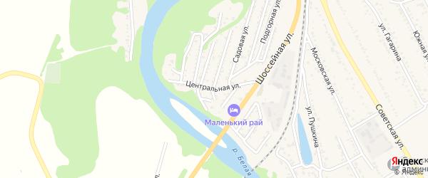 Центральная улица на карте Совхозного поселка Адыгеи с номерами домов