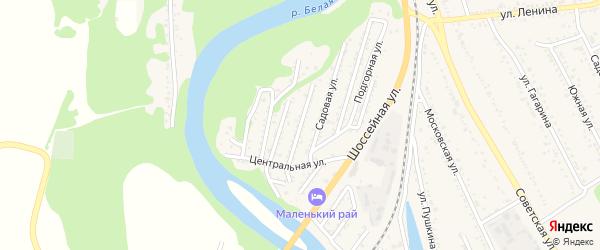 Совхозная улица на карте Совхозного поселка Адыгеи с номерами домов