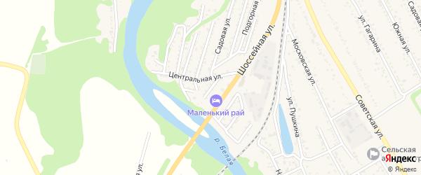 Трудовая улица на карте Совхозного поселка Адыгеи с номерами домов