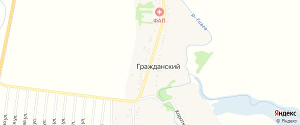 Красная улица на карте Гражданского хутора с номерами домов
