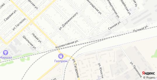 Коллективная улица в Тихорецке с номерами домов на карте. Спутник и схема онлайн