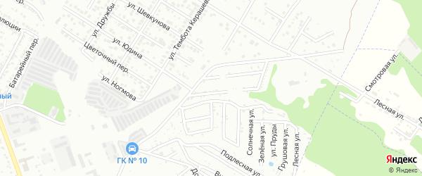Ромашковая улица на карте Машиностроителя с номерами домов