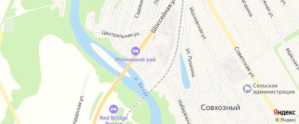 Красноармейская улица на карте Совхозного поселка Адыгеи с номерами домов