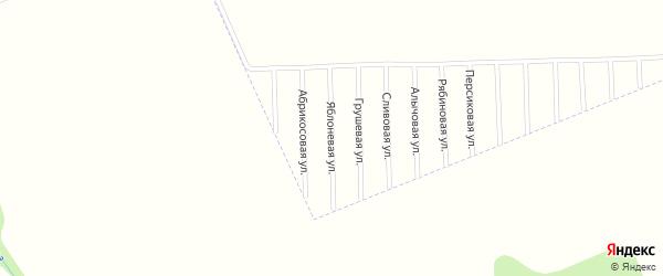 Яблоневая улица на карте садового некоммерческого товарищества Урожая с номерами домов