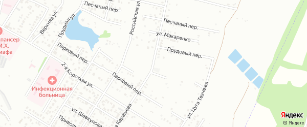 Улица Ачмизова на карте Майкопа с номерами домов
