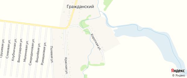 Короткая улица на карте Гражданского хутора Адыгеи с номерами домов