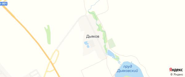 Карта хутора Дьякова в Адыгее с улицами и номерами домов