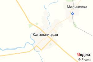 Карта ст. Кагальницкая Ростовская область