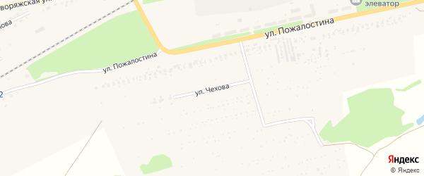 Улица Чехова на карте Ряжска с номерами домов