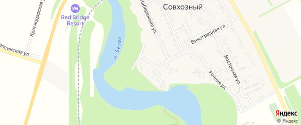 Молодежная улица на карте Совхозного поселка Адыгеи с номерами домов