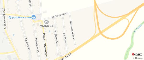 Армавирская улица на карте хутора Северо-Восточные Садов Адыгеи с номерами домов