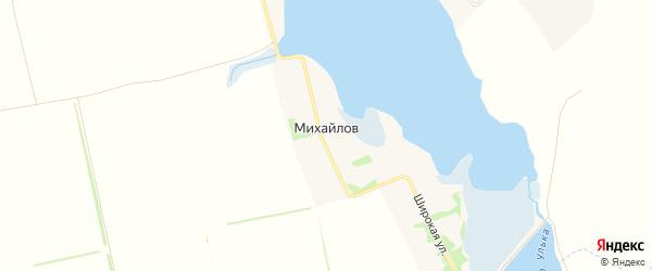 Карта хутора Михайлова в Адыгее с улицами и номерами домов