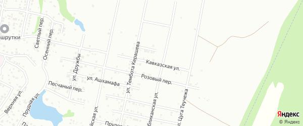 Кавказская улица на карте Майкопа с номерами домов