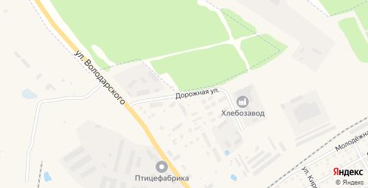 Дорожная улица в Данилове с номерами домов на карте. Спутник и схема онлайн