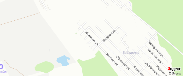 Обрывная улица на карте Зари с номерами домов