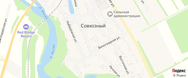 Виноградный переулок на карте Совхозного поселка Адыгеи с номерами домов