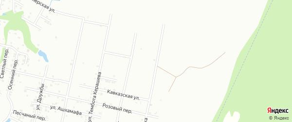 Фиштский переулок на карте Майкопа с номерами домов