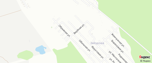Вербная улица на карте Зари с номерами домов
