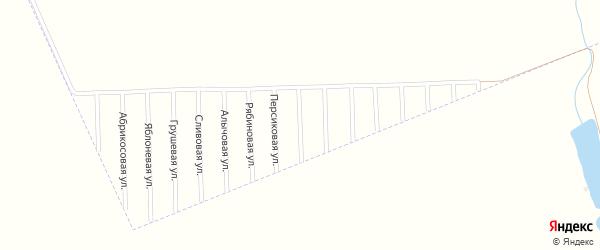 Виноградная улица на карте садового некоммерческого товарищества Урожая с номерами домов