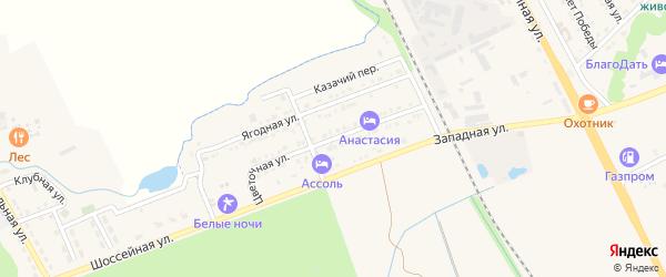 Цветочная улица на карте Тульского поселка Адыгеи с номерами домов
