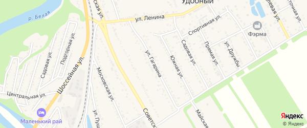 Улица Гагарина на карте Удобного поселка с номерами домов