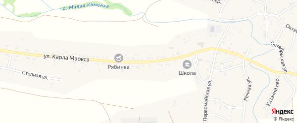Улица Карла Маркса на карте хутора Малой Каменки Ростовской области с номерами домов