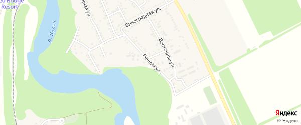 Речная улица на карте Совхозного поселка Адыгеи с номерами домов