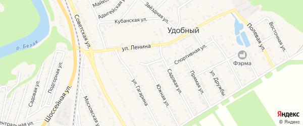 Улица Жукова на карте Удобного поселка Адыгеи с номерами домов