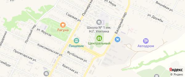 Переулок им Флоренко на карте поселка Чертково Ростовской области с номерами домов