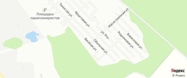 Обильная улица на карте Пищевик-1 с номерами домов