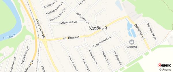 Улица Ленина на карте Удобного поселка Адыгеи с номерами домов
