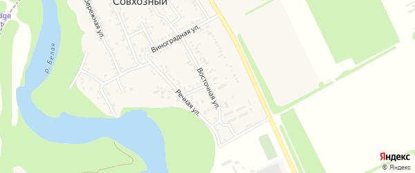 Восточная улица на карте Совхозного поселка Адыгеи с номерами домов