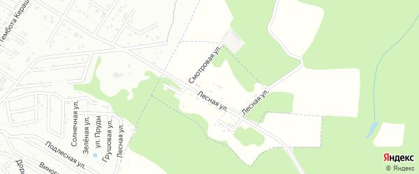 Смотровая улица на карте поселка Учебного лесничества Адыгеи с номерами домов