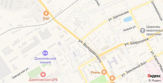 Улица Володарского в Данилове с номерами домов на карте. Спутник и схема онлайн