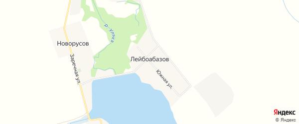 Карта хутора Лейбоабазова в Адыгее с улицами и номерами домов