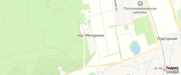 Карта поселка Мичурина в Адыгее с улицами и номерами домов