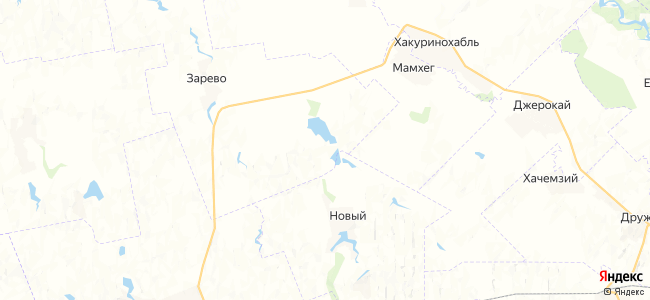 Задунаевский на карте