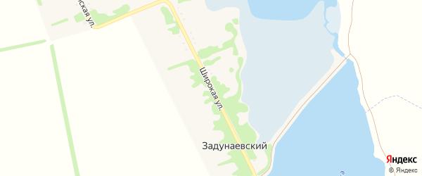 Широкая улица на карте Задунаевского хутора Адыгеи с номерами домов