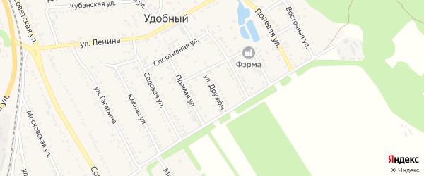 Улица Дружбы на карте Удобного поселка Адыгеи с номерами домов