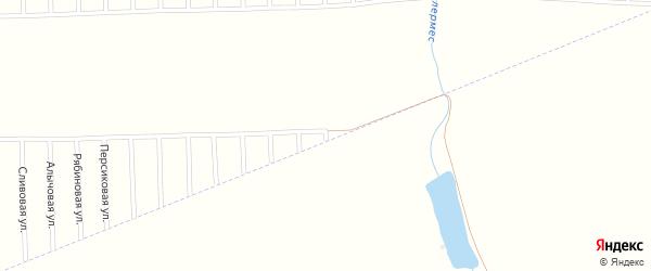 Солнечная улица на карте садового некоммерческого товарищества Урожая с номерами домов