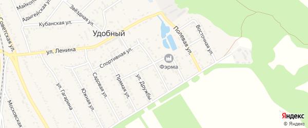 Цветочная улица на карте Удобного поселка Адыгеи с номерами домов