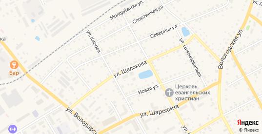 Улица Щелокова в Данилове с номерами домов на карте. Спутник и схема онлайн