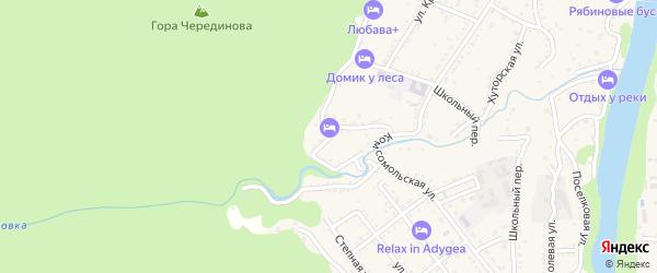Западный переулок на карте Каменномостского поселка с номерами домов