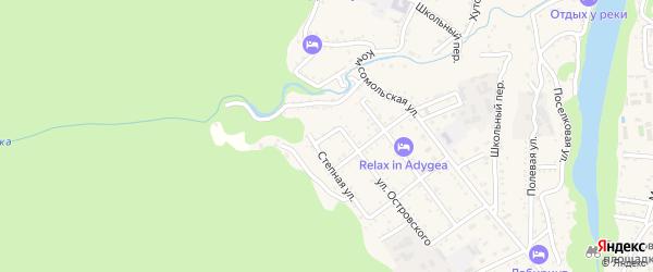 Степной переулок на карте Каменномостского поселка Адыгеи с номерами домов