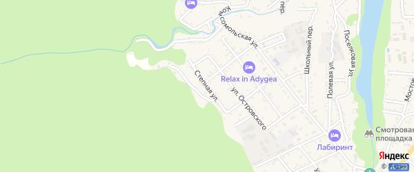 Степная улица на карте Каменномостского поселка Адыгеи с номерами домов