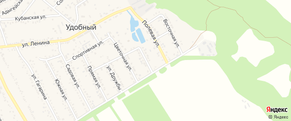 Родниковая улица на карте Удобного поселка с номерами домов