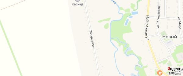 Западная улица на карте Нового поселка Адыгеи с номерами домов