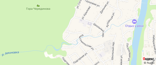 Западная улица на карте Каменномостского поселка Адыгеи с номерами домов