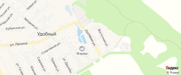 Полевая улица на карте Удобного поселка Адыгеи с номерами домов