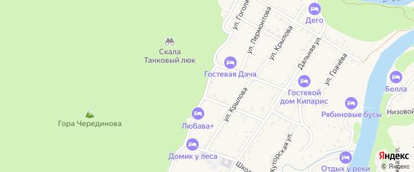 Улица Гоголя на карте Каменномостского поселка с номерами домов